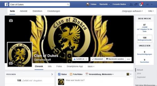 Dukes bei FaceBook